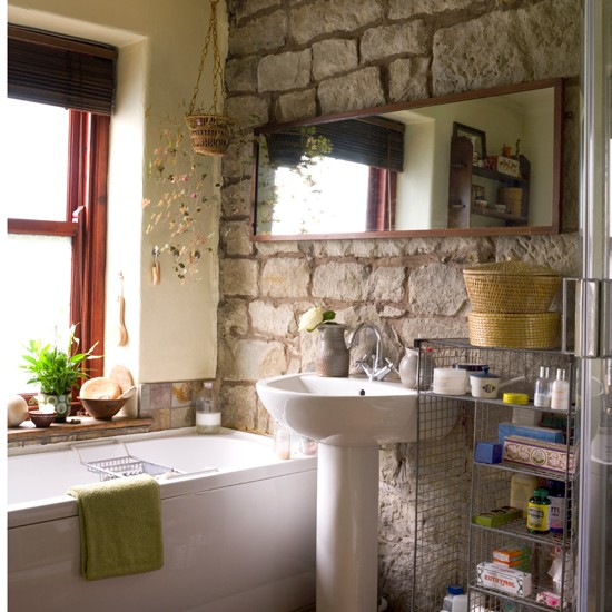 Natural stone bathroom | Traditional decorating ideas | Ideal Home | Housetohome
