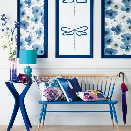 Blue and white hallway | Modern decorating ideas | Ideal Home | Housetohome