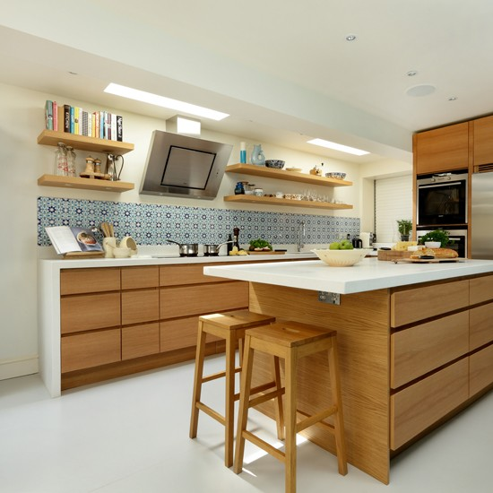 modern oak kitchen