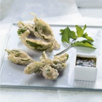 Green Herb Tempura and Dipping Sauce