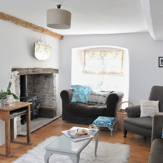 original living room features modern country cottage housetohome