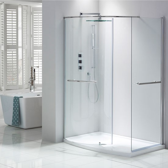 Aquaglass Closing Walk In Shower Enclosure From Frontline Bathrooms Walk In Showers