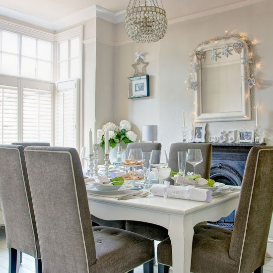 White and grey dining room | Traditional dining room ideas - 10 of the ...