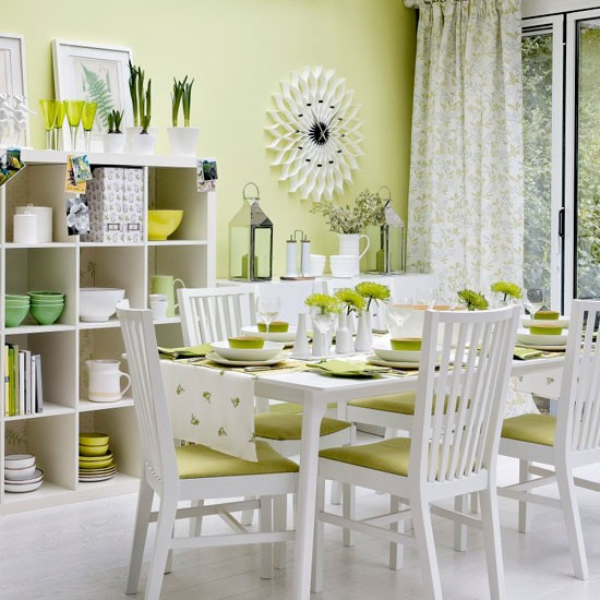 white and lime green dining room joy studio design