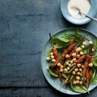 Warm Roast Carrot, Chickpea and Spinach Salad with a 
