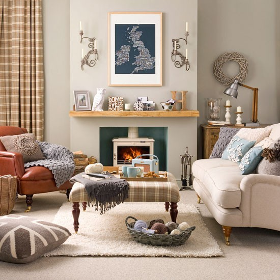 Cosy living room retreat for Living room decor ideas uk