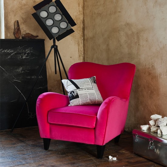 Bedroom Corner With Bright Chair