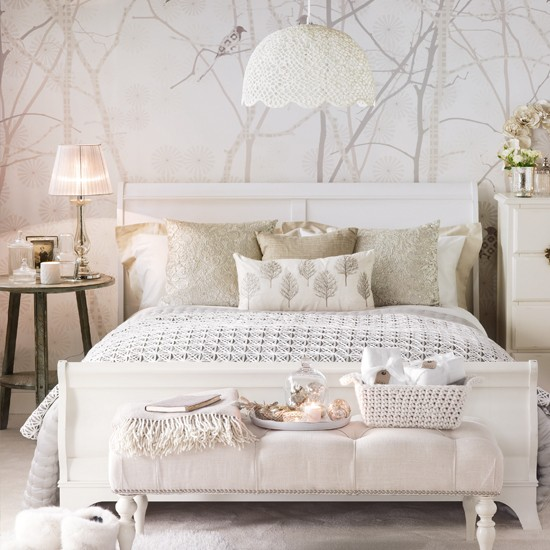 White Bedroom Decorating Ideas For Glamorous Bedrooms Decorating