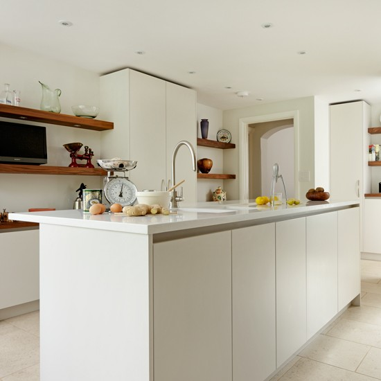 Sleek Kitchen Design: Sleek White Modern Kitchen