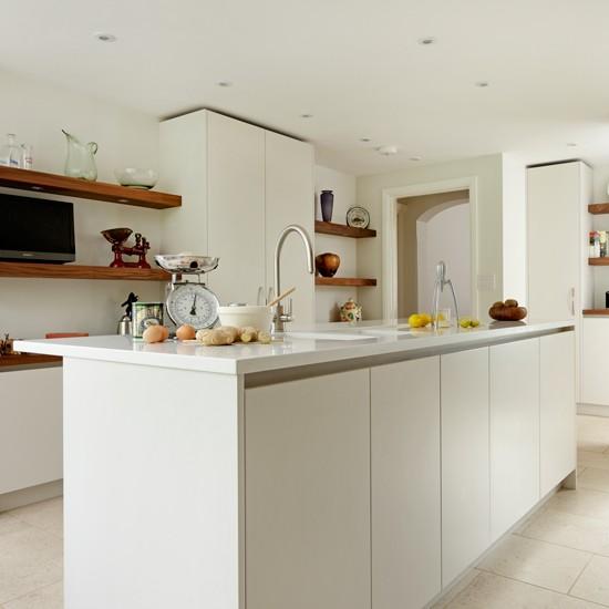Modern Kitchen White: Sleek White Modern Kitchen