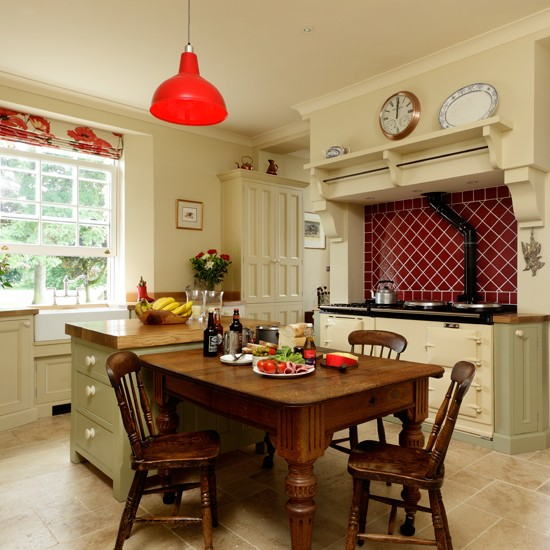 Country kitchen with Aga  kitchen design  Beautiful Kitchens