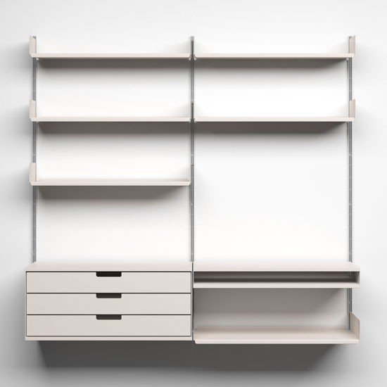 606 universal shelving system from vitsoe wall hung