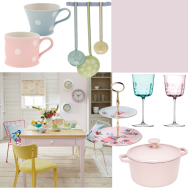 Pretty pastel dining room