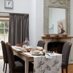 White and brown country dining room