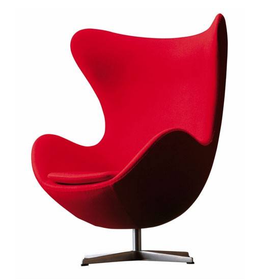 egg chair by arne jacobsen at aram retro shopping trend. Black Bedroom Furniture Sets. Home Design Ideas