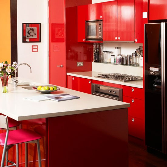 Contemporary Red Kitchen: Housetohome.co.uk