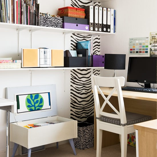 Organised Home Office Shelving Ideas