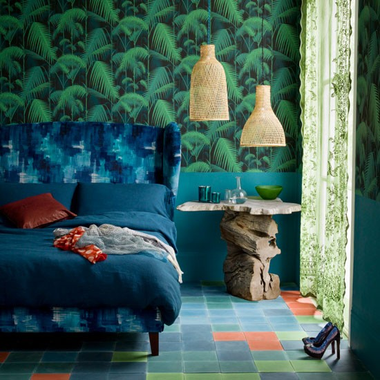 Nature inspired bedroom colourful bedrooms housetohome for Nature inspired rooms