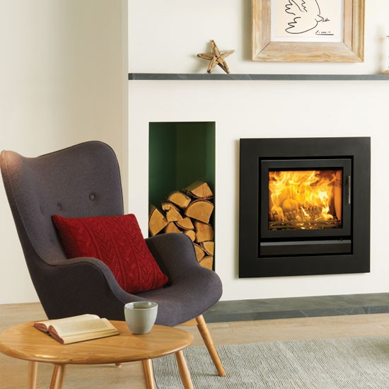 Smoke-control approved   Contemporary fireplaces   Stovax Riva 50   10 of the best   Homes & Gardens   Housetohome.co.uk