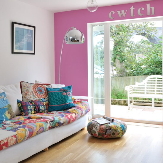 Pink And Patchwork Living Room Summer Colour Schemes And