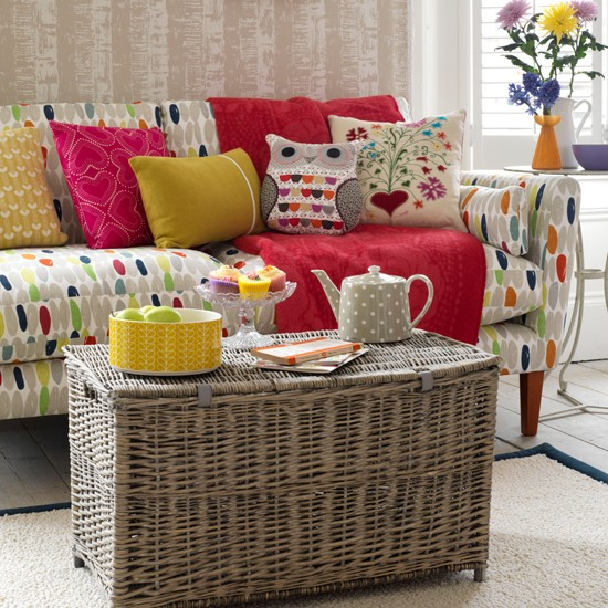 Colourful living room | Family living room ideas - 10 of the best | Living room | PHOTO GALLERY | Country Homes & Interiors | Housetohome.co.uk