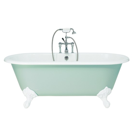 Flow bath from fired earth roll top baths housetohome for Fired earth bathroom ideas