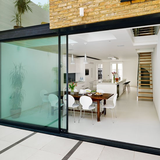 Kitchen extensions for Sliding glass doors kitchen