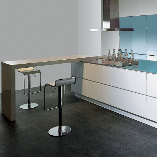 Modern U Shaped Kitchen With Handleless Cabinetry: Contemporary Kitchen Ideas