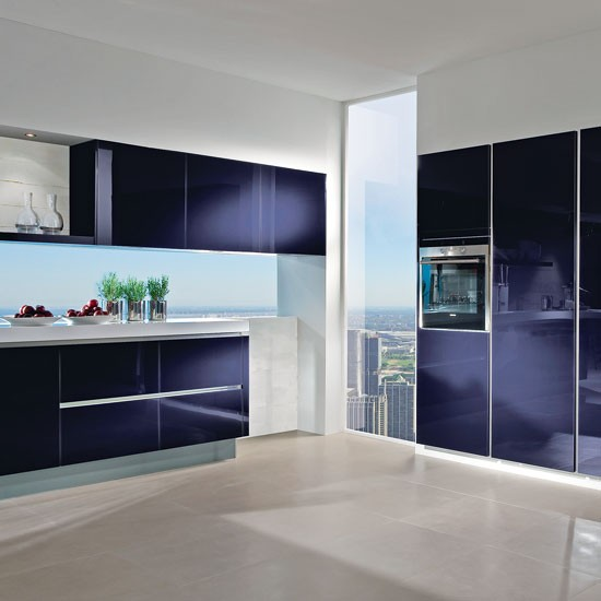 10 Beautiful Kitchens With Purple Walls: Contemporary Kitchen Ideas