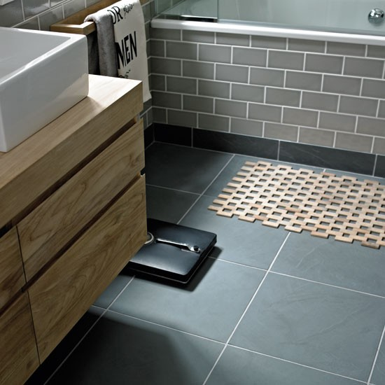 Urban slate from fired earth bathroom flooring ideas for Urban bathroom ideas