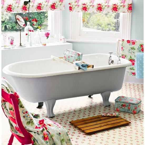 rose sprig white vinyl floor tiles from cath kidston