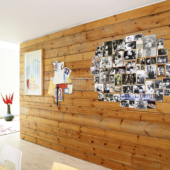 Timber-clad dividing wall | Extended Thirties house | PHOTO GALLERY | Ideal Home | Housetohome
