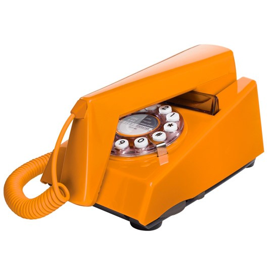 Wild & Wolf orange 'trim' corded phone from Debenams | Retro trend - 10 of the best | trends | PHOTO GALLERY | Housetohome