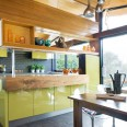 Step inside a quirky green retro-inspired kitchen