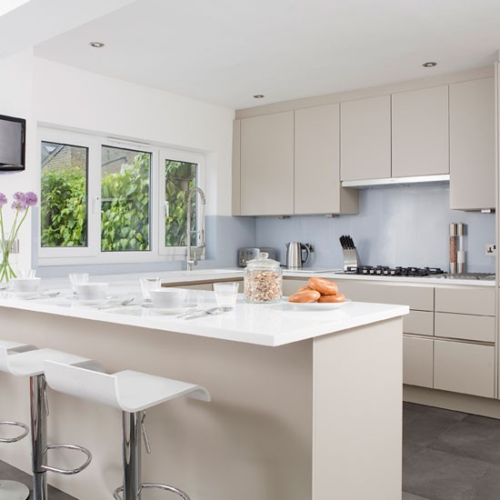 Modern kitchen in soft grey  Kitchen diner  PHOTO GALLERY  Ideal
