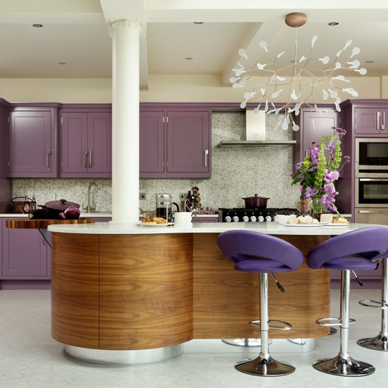 Purple Hand Painted Kitchen