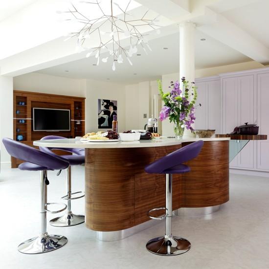 open plan walnut kitchen housetohome co uk