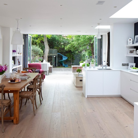 Light open-plan kitchen | housetohome.