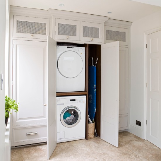White laundry room for Utility room design