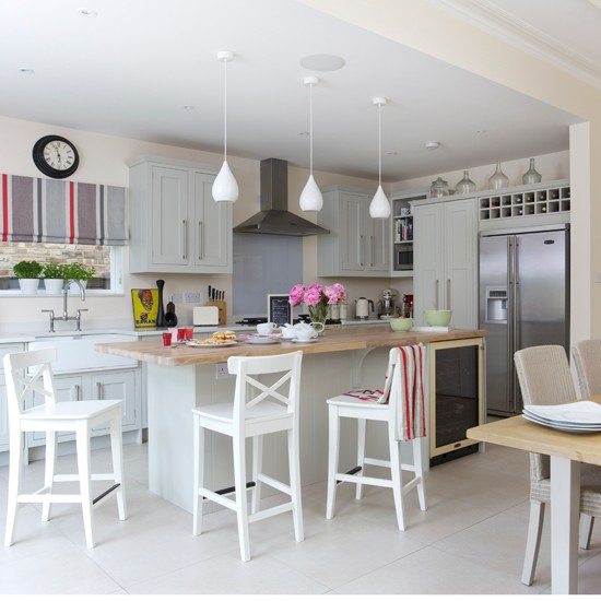 Grey Shaker Kitchen diner Housetohomecouk
