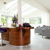 Conservatory with walnut kitchen