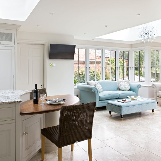 White Open-plan Conservatory