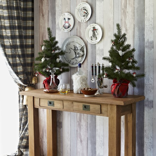 Cosy Christmas hallway  Festive decorating ideas  Country Homes