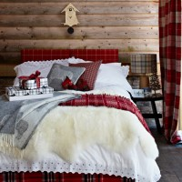 Red tartan bedroom