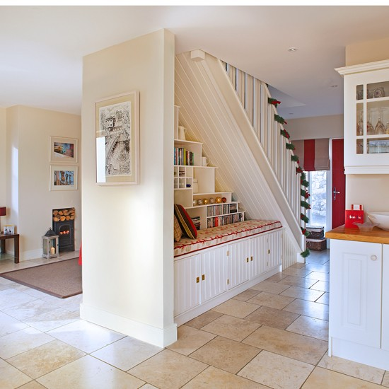 Kitchen Tour An L Shaped Layout And Neutral Scheme Boost: Neutral Open-plan Hallway