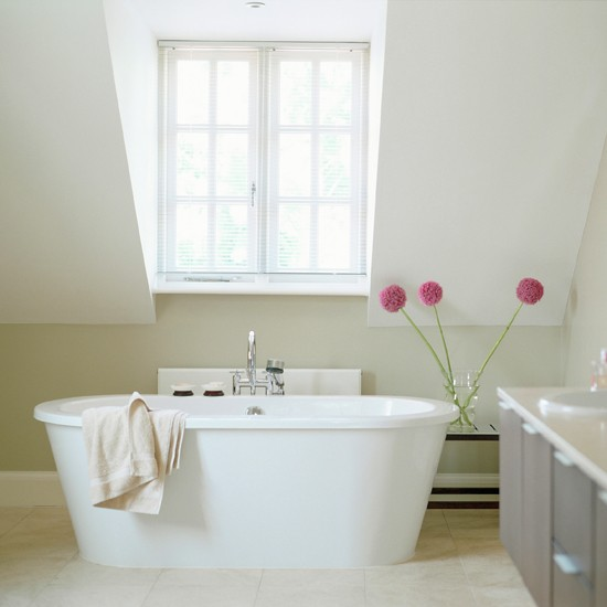 Fresh green and white scheme energise spa 10 for Living etc bathroom ideas