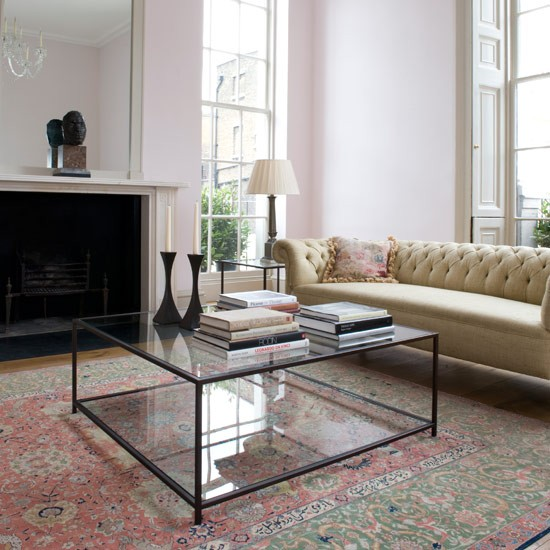 Find a glass framed coffee table celia rufey answers - Glass side tables for living room uk ...