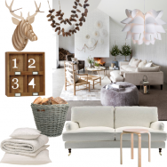 Wood and white Scandi living room