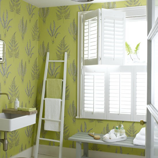 bright beautiful wallpaper small bathrooms ideas
