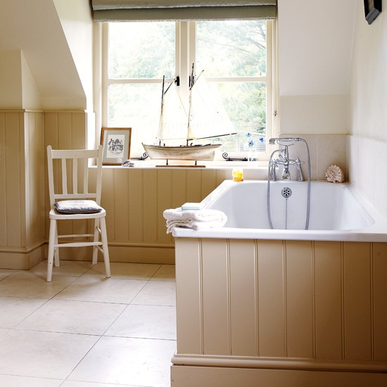 Neutral Panelled Bathroom How To Decorate With Neutrals